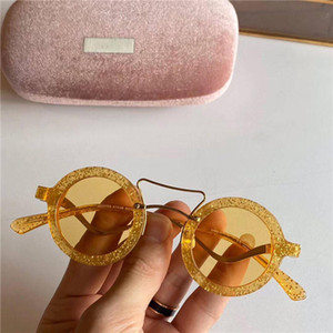 Round 208Sunglasses New Arrial sunglasses women Round plank frame Metal hinge glass lens Retro Vintage sun glasses Goggle with box and cases