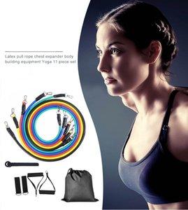2020 New 11pcs Body Training Equipment Pull Rope Fitness Exercises Resistance Bands Set Training Yoga Band Gym Fitness Equipment