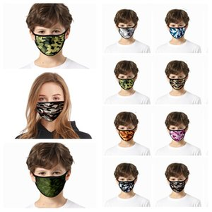 Europe and America 3D camouflage mask printed dust mask face Masks Housekeeping Designer Masks T2I5937