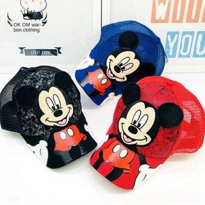 Children's hat Korean New embroideryBaseball Embroidered baseball cap autumn cartoon stereo ear duck tongue net cap