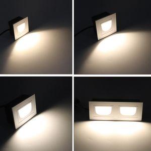 5W / 2x5W LED a prueba de agua hacia abajo Footlight escalera luz del paso ligero de la pared Luz empotrada LED interior / exterior Escalera luces Paso