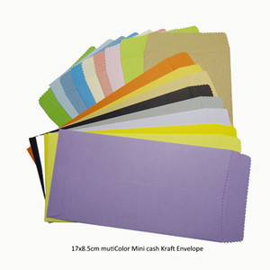 Postcard 100pcs In  17x8.5cm Colorful Mini Kraft Envelope Universal Standard Chinese Retro Diy For Cash cards letters gifts