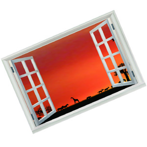 3D Window Wall Decal Vinyl Wall Stickers Art Home Décor Removable Wall Mural Poster Stickers for Bedroom