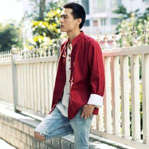 Tangsuit vintage vêtements pour hommes style chinois shirt cheongsam Top Vêtement traditionnel chinois pour les hommes Wutang Hanfu ethnique