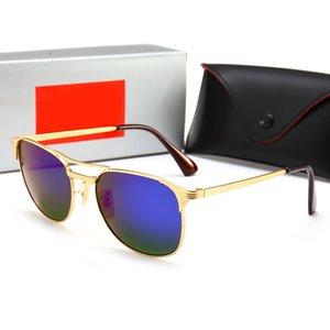 2020 Lei Yeni Trend Güneş Karşıtı UV Gözlük Erkekler ve Kadınlar Aviator Güneş Açık Plaj Binme Ayna Metal Çerçeve 3429
