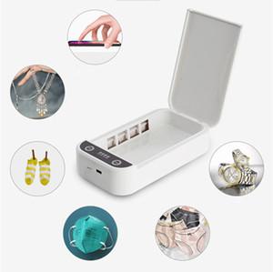 Caliente del teléfono celular de la luz UV Móvil esterilizador UV Luz Limpiadores Sanitzier Caja aromaterapia Función de desinfección para joyería Cara Máscara