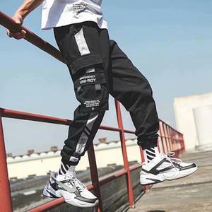 Del progettista di marca Streetwear Mens del multi tasche cargo Harem Pants Hip Hop pantaloni casuali Maschio pista jogging Pantaloni Moda Harajuku Pantaloni Uomo