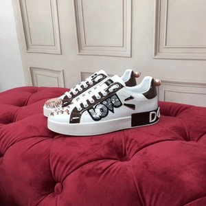 Designer shoes fashion luxury leather sneakers for men women top quality Platform shoes height increasing jogging walk klhnm01