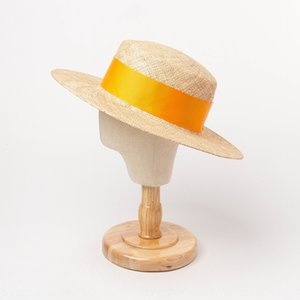 Korean summer New Multi-Color wide ribbon men's and women's light herbal flat top straw large cool cool hat eaves sunshade hat