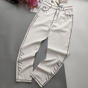 20SS Nouveau luxueux designer FF marque sketch main Washed Jeans Pantalons Hommes Femmes sport mode Jogger Sweatpants Outdoor Pants 7.12