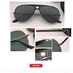 2019 الطيار مرآة الحريق نظارات شمس رجل إمرأة الإطار المعدني فلاش الوردي الطيران القيادة نظارات شمسية ذكر ريترو 3581N مصمم UV400 النظارات الشمسية