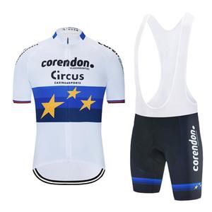 Tour De France 2020 Corendon Circus mens summer Cycling Jersey set Quick Dry MTB bike cycling Clothing bib shorts kit Ropa Ciclismo