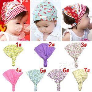 Babymütze tägliche Haarband Stirnband Haarband für bunte Blumen Hutband Blume Plaid Haar-Accessoires Babys Neugeborenen Requisiten