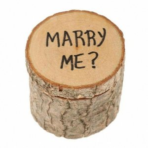 chzll 1pc Wooden Marry Me Ring Box Gift DIY Rustic Wedding Deocr Accessories Gift Boxes Vintage Weddings & Events Party Supplies Pm9U#