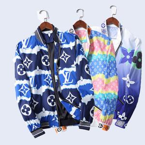 Üst düzey WINDBREAKER Erken sonbahar Uzun Kollu Erkek ceketler Hoodie renk Giyim Moda Tasarımcısı Erkek Ceket Fermuar Harf Desen