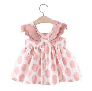 2020 kids clothes Summer printed wings girl dress little girl dress