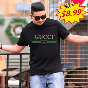 Estate Mens T Shirt Fashion Dog Stampa del cotone degli uomini Black Women Tees maniche corte LACOSTE FILA Fendi Gucci