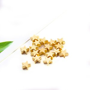 200pcs lot 6*6mm Inside Hole 1mm CCB Gold Silver Color Star Spacer Beads End Caps Beads DIY Jewelry Making Findings Charm Beads