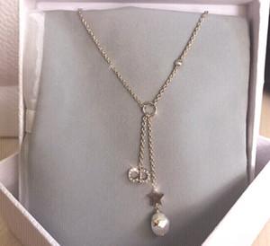 D / DI Nuove elegante diamante accessori da collo lettera CD semplice modo delle donne collana stelle
