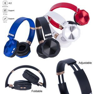 Wireless Bluetooth headsets foldable headphones Deep Bass music Headphones With Mic suppport TF Card calling rechargeable phone earphone