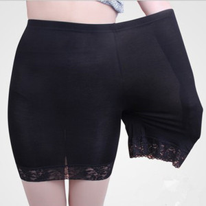 Yesello High Women Safaty Pants Modal Lace Comfy Briefs Summer Fit For Dress Boxer Plus Size