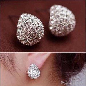 Earings for Woman C shaped diamond earrings 925 Silver Gold Plated Stud Earrings