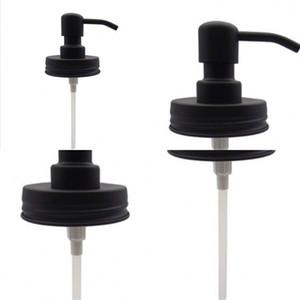 Pistola automatica del coperchio Hand Sanitizer Dispenser ugelli scuro di capelli neri Dressing Gel Mason Pompa Vasi Tubo durevole 10hk C2