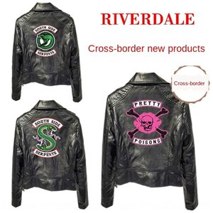 67HeX Valley town leather riverdale women's Wallet coat for American TV series Valley town leather riverdale women's Jacket Wallet jacket co