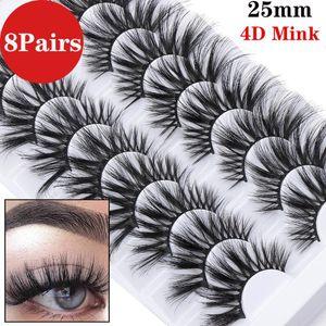 8 paires 4D Mink de faux cils épais long pleine naturel volume Wispy Fluffy Vison Cils Extension beauté des Outils de maquillage