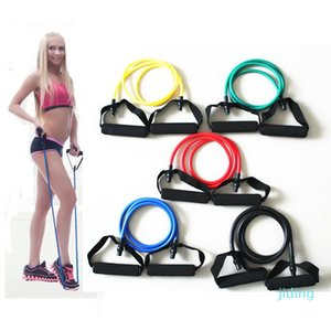 Wholesale-1Pcs Home Workout Elastic Pull Rope Arm Leg Strength Training Yoga Exercise Bodybuilding Resistance Bands Fitness Expander Band