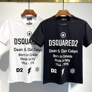 DSQUARED2 D2 DSQUARED 2 DSQ 20SS Italie Disco Punk Streetwear Hommes T-shirts Lettre ICON Imprimer Tops Shorts Haute Qualité Hommes Femmes Hip Hop Harajuku T-shirt Tee FC706