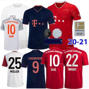 2019 2020 2021 بايرن ميونيخ الالماني لكرة القدم الفانيلة PAVARD نوير MULLER LEWANDOWSKI تياجو SANE 120 سنة 20 21 لكرة القدم من الرجال والنساء قميص 4XL