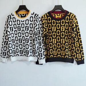 Milan Runway Sweater 2020 Long Sleeves O Neck Women's Sweaters High End Jacquard Pullovers Women Designer Sweater 0712-4