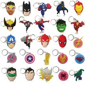 Marvel Мстители Key Chain ПВХ Аниме Супермен Key Ring мультфильм рис Batman Key Holder Kid Игрушка подвеска брелок Xmas подарков DHL