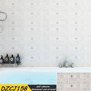 Usine de gros Pvc imperméable Background auto-adhésif Papier peint à rayures Chambre style européen mur Mobilier Autocollants-résistant à l'huile