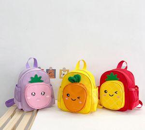 Kid Boy Girl Children School Bag Kids Toddler Cute Cartoon fruit School Bag Backpack Baby Accessories