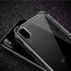 Transparent Phone Case For iPhone 11 Pro XS MAX XR 8 7 6 Plus Soft TPU Back Cover For Samsung