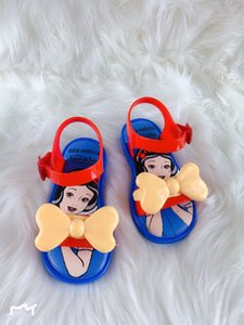 2019 New Melisa with the same style discus * Snow and Butterfly White GZ jelly fragrant children's sandals bow sandals