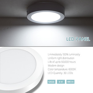 Round 6W LED Pannel Light Cool White LED Lighting Fixture for Office School Hotel and Home Decoration