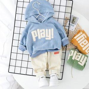 2020 Spring Baby Casual Tracksuit Children Boy Girl Cotton Hoodies Pants 2Pcs Sets Kids Leisure Causal Suit Infant Clothing Set