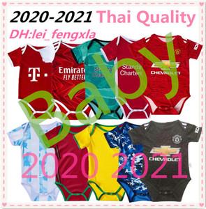 2020 camisetas de fútbol 2021 Italia España bebé 20 21 japón niños chicos Hombre United Baby Monos Kits Argentina Brasil de fútbol Jersey Messi niño