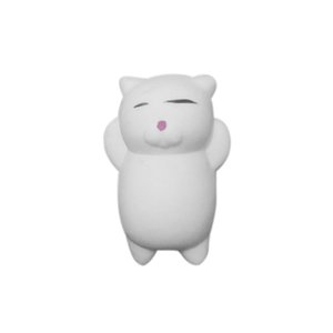 White Cat Colorful Adorable Cute Animal Hand Wrist Squeezing Fidget Toys Squishy Mini Stress Relief Squeeze Doll Slow Risng Venting Ball