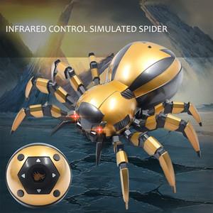 어린이를위한 LED 조명 적외선 유도 까다로운 무선 모델 시뮬레이션 원격 제어 동물 완구 미니 RC 거미 로봇