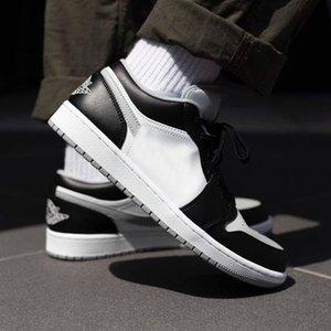 1 Low Shadow 553558 039 BLACK LIGHT SMOKE GREY WHITE mens shoes Casual Shoes men dress shoes shoe box designer women wedges runners