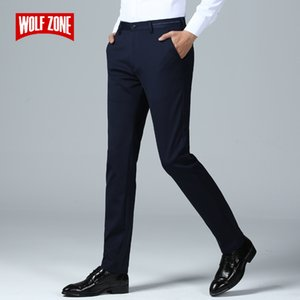 Brand Spring Summer Pants Men Fashion Casual Elastic Long Trousers Male Straight Business Suit Pants Large Size 29-40 CX200728
