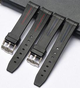 EACHE Yeni Silikon Kauçuk İzle Band İzle sapanlar Su geçirmez Watchband 20mm, 21mm IARS #