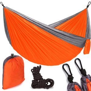 Origin Hiking And Camping Camping & Hiking Source Single Double Parachute Cloth Hammock Twocolor Stitching Nisi Spinning Swing Outdoor HKDA#
