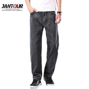Jantour hombres disponibles Es delgado de pierna recta pantalones vaqueros flojos 2020 verano nuevo estilo clásico avanzada estiramiento flojos pantalones masculinos de la marca