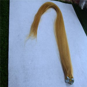 """Strawberry Blonde Color Tape In Human Hair Extensions None Remy Straight Skin Weft Hair 12"""" 16"""" 20"""" Malaysian Pu Hair"""