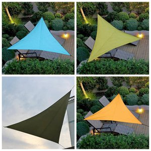 Sun Shelters Waterproof Solid Color Triangle Sunshade Outdoor Canopy Garden Patio Pool Shade Sail Awning Courtyard Balcony Shade tool CLS328